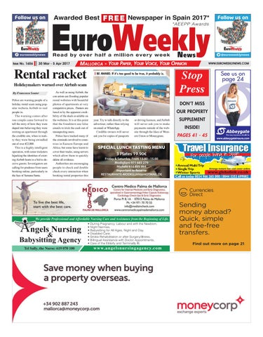 Euro weekly news mallorca 30 march 5 april 2017 issue 1656 by page 1 fandeluxe Gallery
