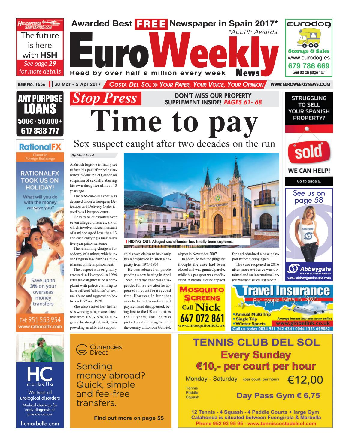 Euro Weekly News - Costa del Sol 30 March - 5 April 2017 Issue 1656 by Euro  Weekly News Media S.A. - issuu 17d57e6b7