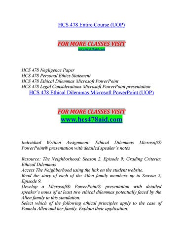 HCS 478 AIDYour world/hcs478aid com by berry987015 - issuu