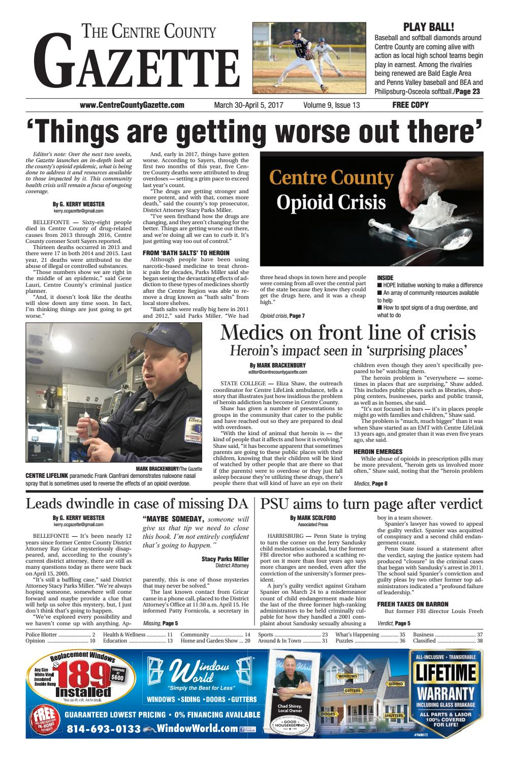 Centre County Gazette, March 30, 2017 by Indiana Printing