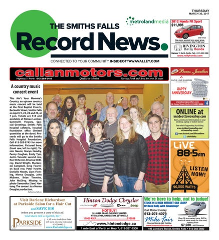 Smithsfalls033017 by Metroland East - Smiths Falls Record News - issuu