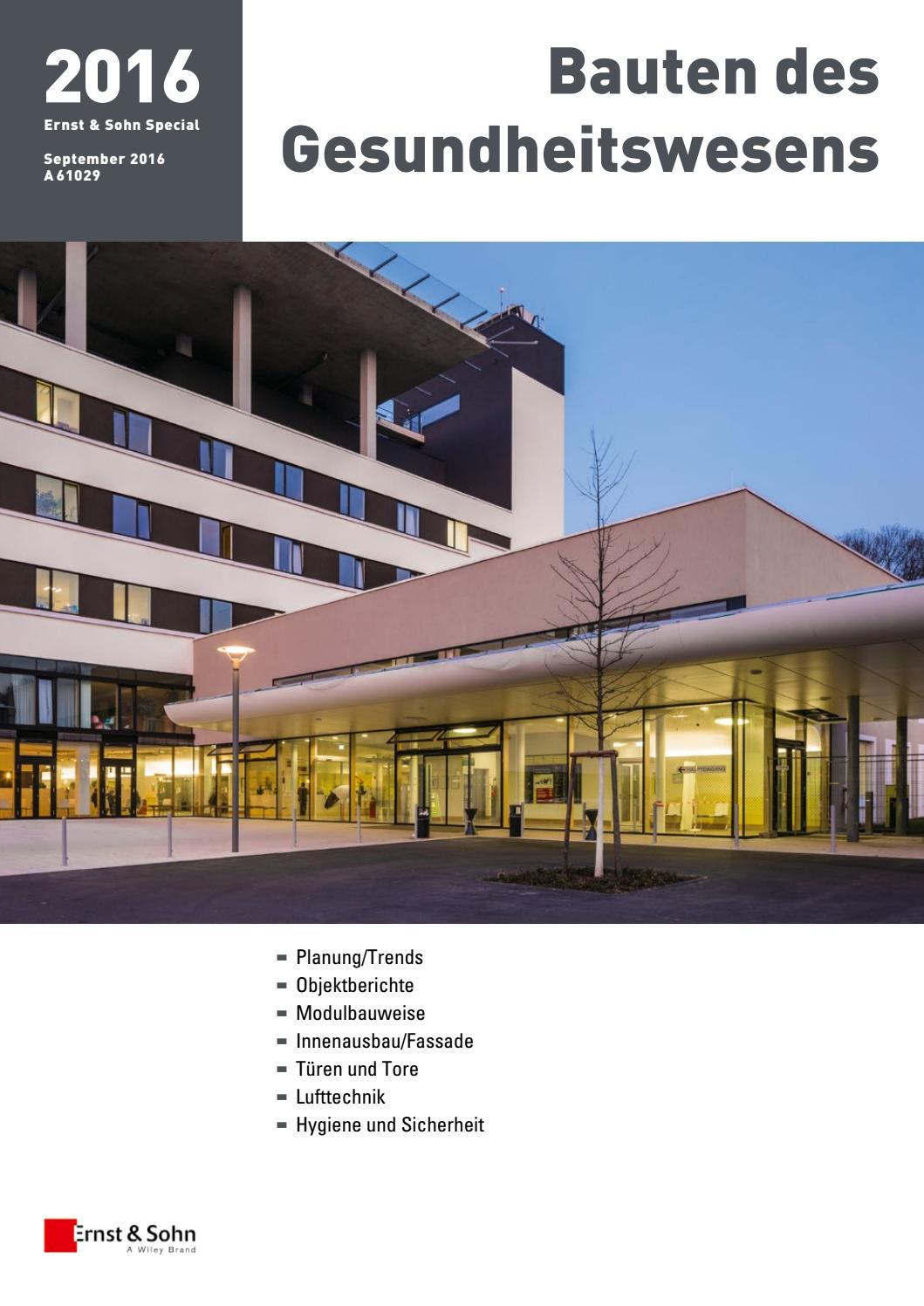 Bauten des Gesundheitswesens 2016 by Ernst & Sohn - issuu