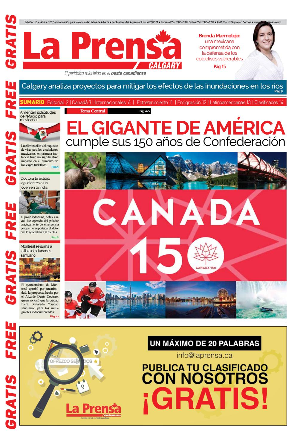 1ra Edición Calgary Abril 2017 by Buena Vista Editores - issuu