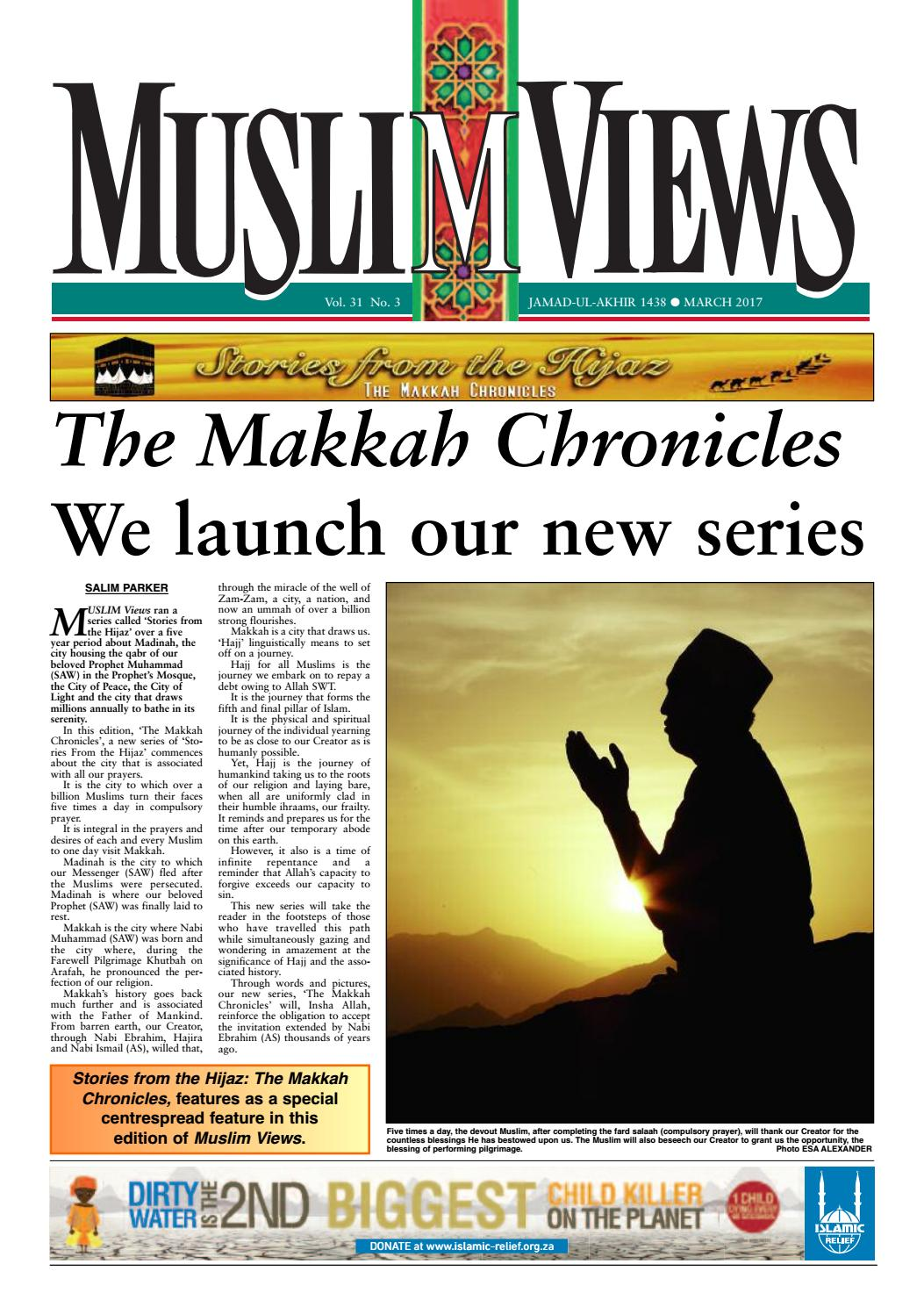Muslim Views March 2017 By Muslim Views Issuu