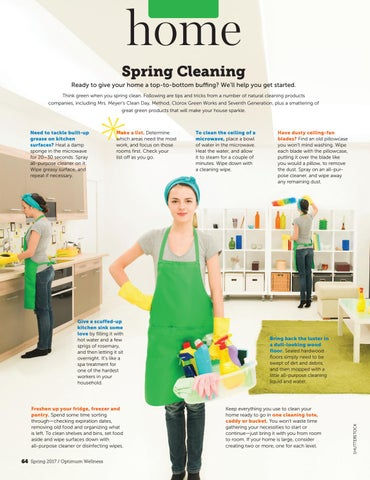 479a591ef home Spring Cleaning Ready to give your home a top-to-bottom buffing  We ll  help you get started. Think green when you spring clean.