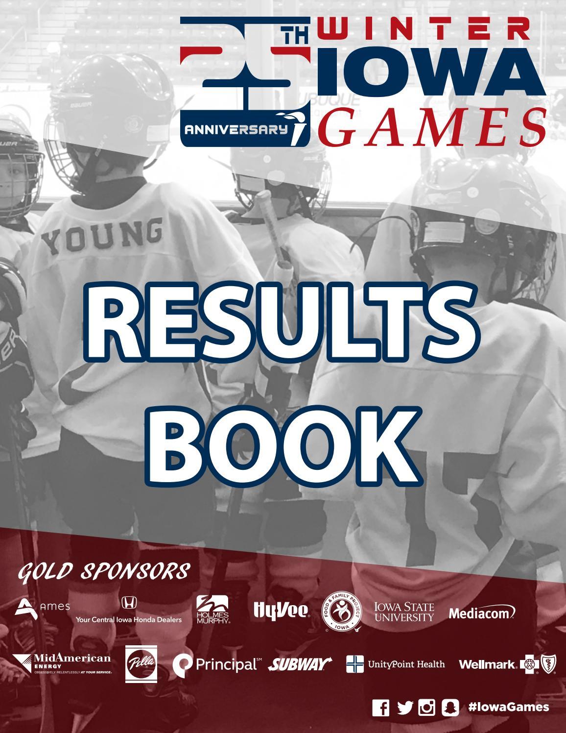 2017 Winter Iowa Games Results Book
