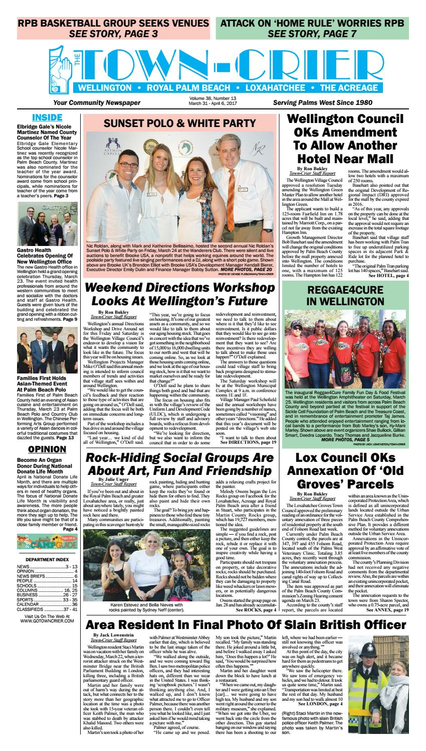 town crier newspaper march 31, 2017 by wellington the magazine llctown crier newspaper march 31, 2017 by wellington the magazine llc issuu