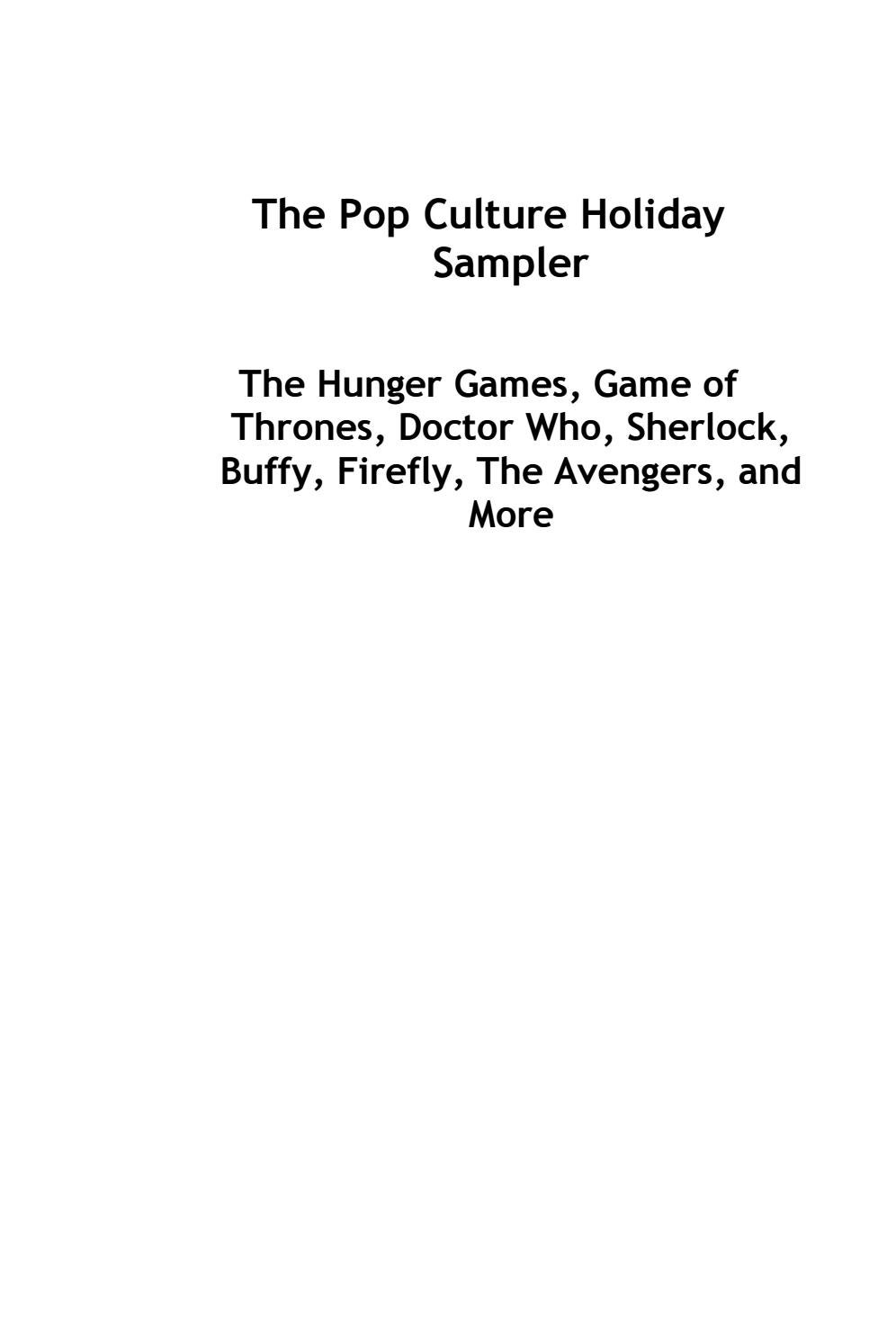The Pop Culture Holiday Sampler: Hunger Games, Game of