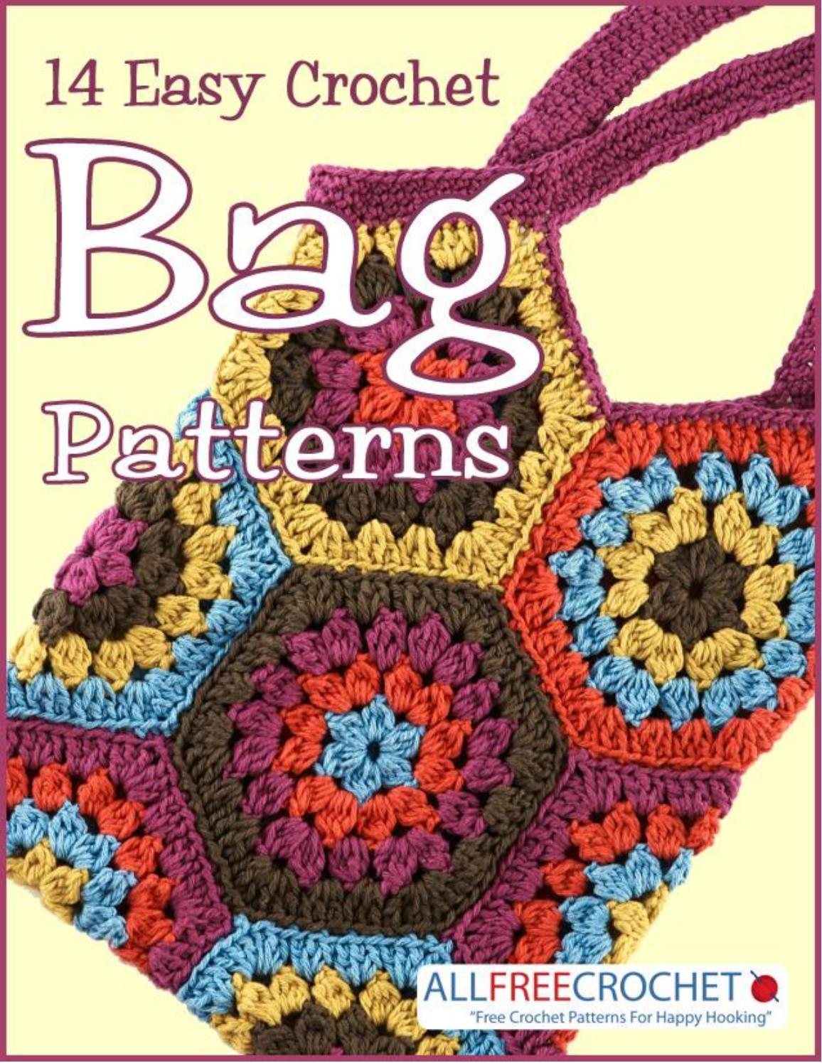 Crochet bags by ahdr issuu 14 easy crochet bag patterns dt1010fo