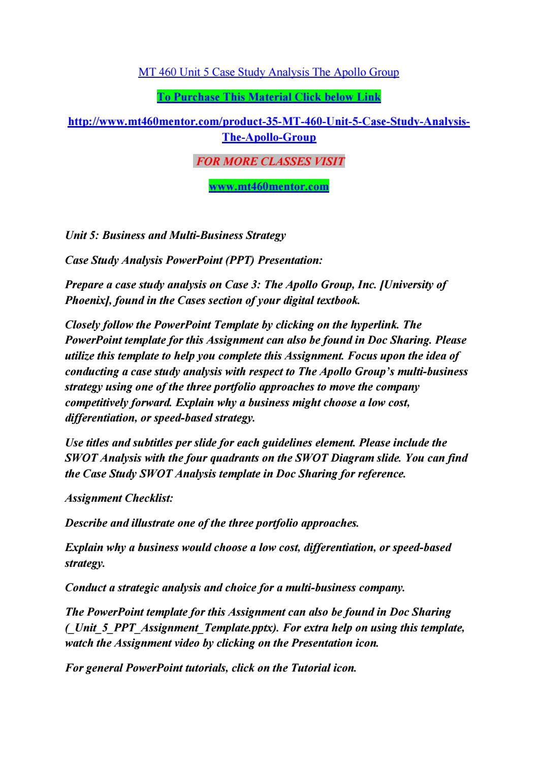 case study apollo group phoenix university The university of phoenix (uop) was founded in 1976 by dr john g sperling, now chairman and ceo of apollo group, as the first accredited for-profit university at cambridge university before becoming a fully tenured humanities professor at san jose state university in the early 1970s with a grant to study a means by.
