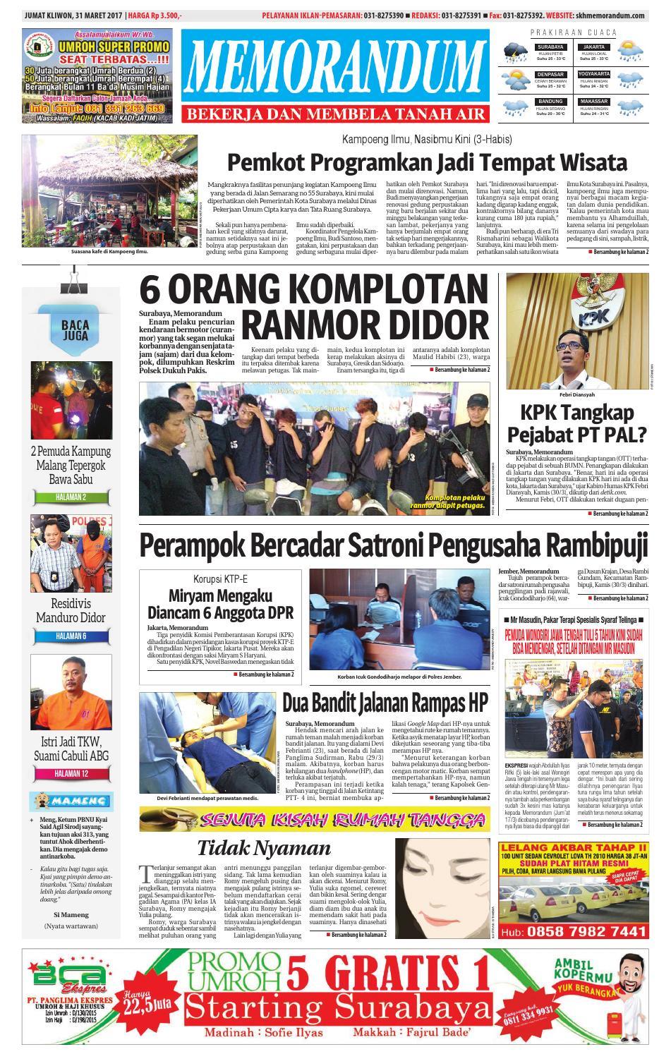 Memorandum Edisi 31 Maret 2017 By Issuu Produk Ukm Bumn Kain Batik Middle Premium 3 Bendera 01