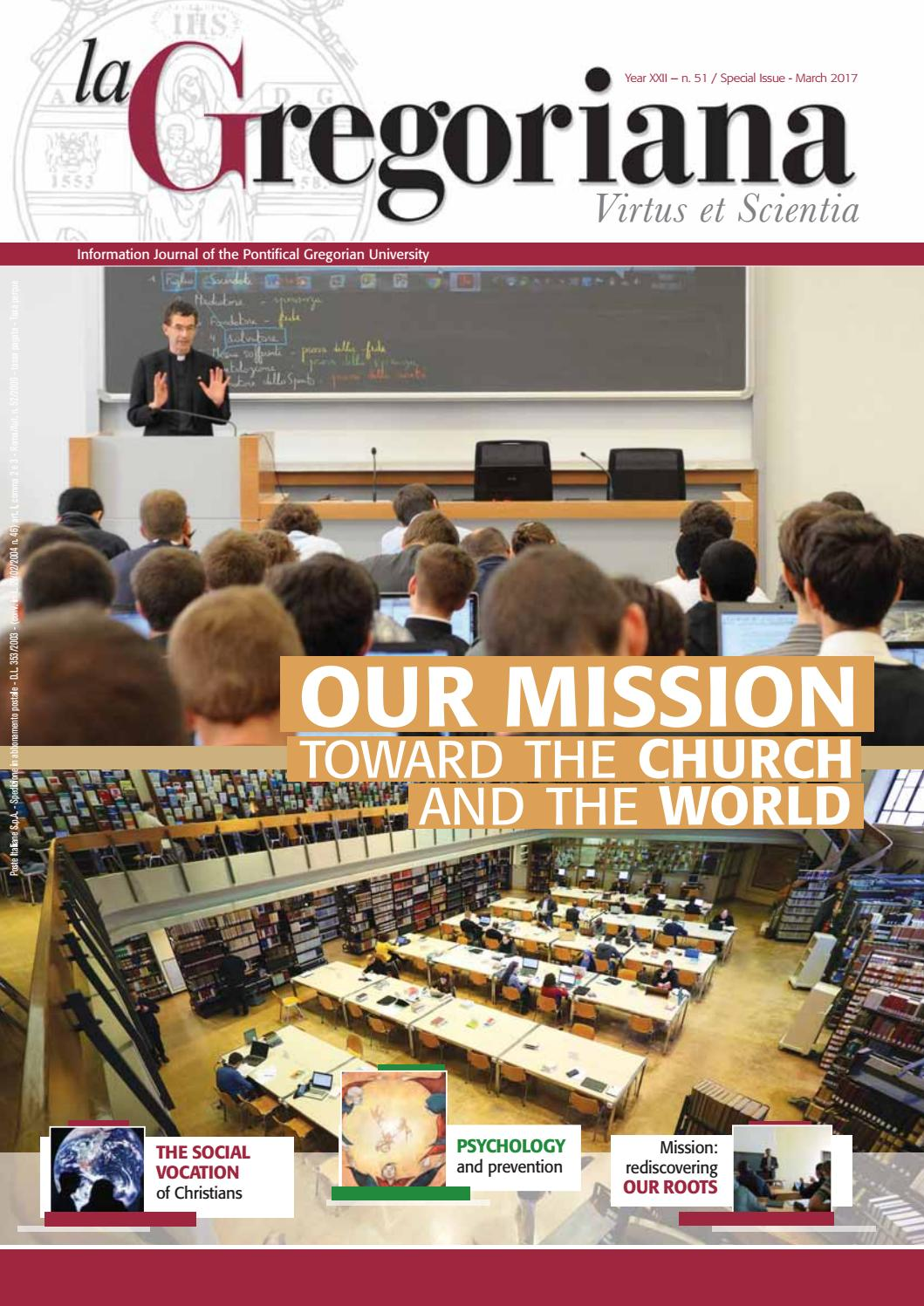 La Gregoriana - Year XXII - n. 51 - Special Issue - English edition by  Pontificia Università Gregoriana - issuu