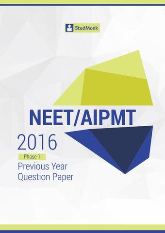 Paper aipmt pdf sample