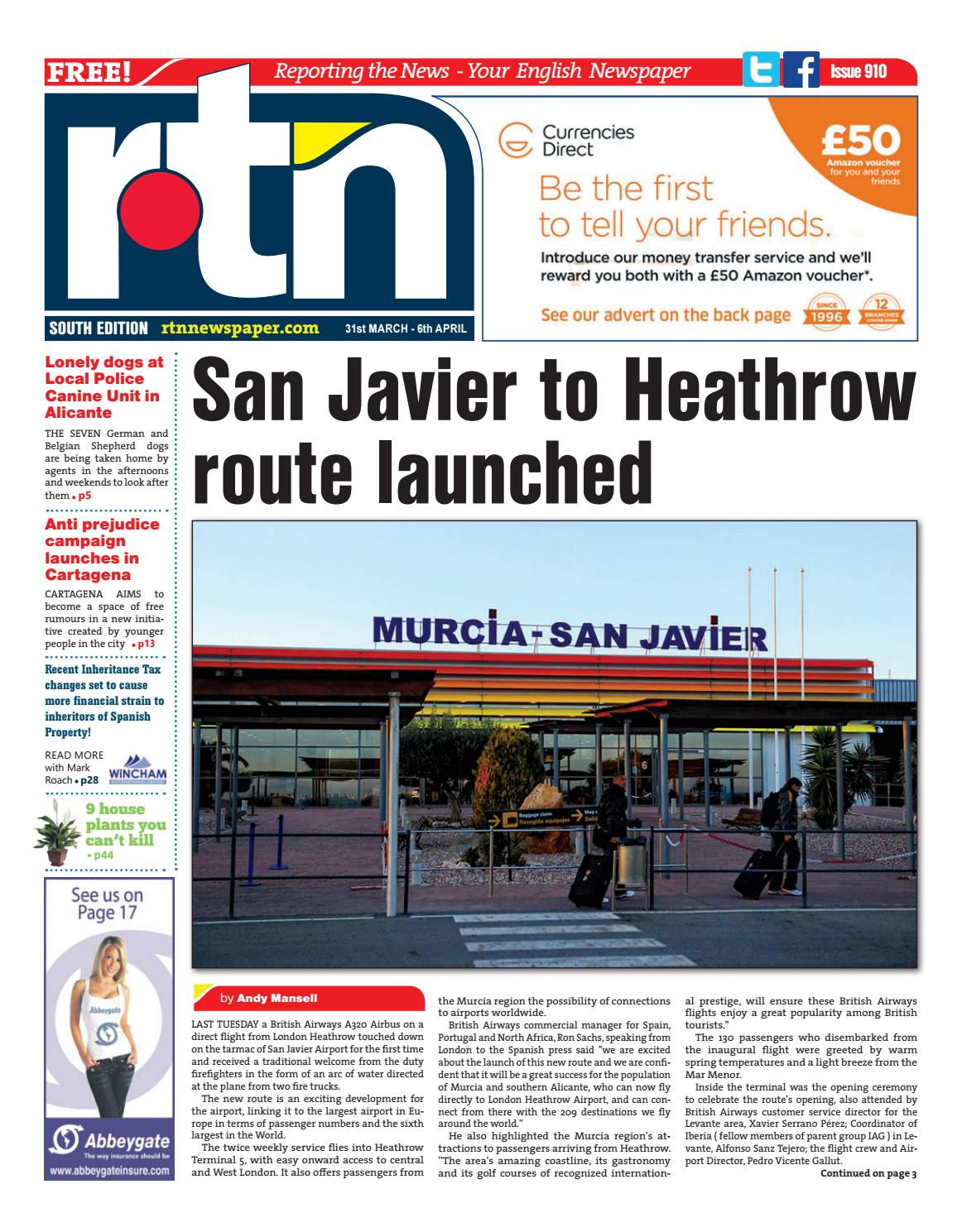RTN Newspaper - Costa Blanca South 31 March - 6 April 2017 Issue 910