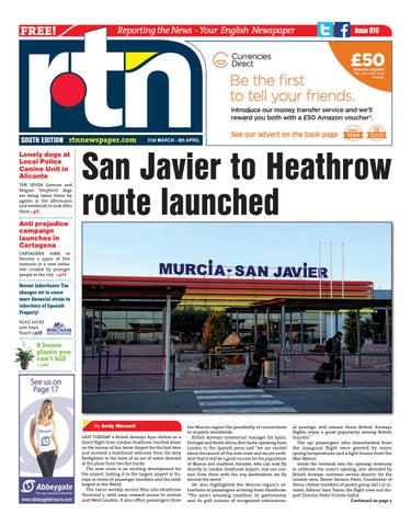 4311294ab RTN Newspaper - Costa Blanca South 31 March - 6 April 2017 Issue 910 ...