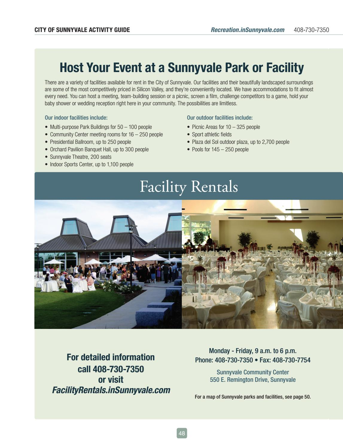 Sunnyvale parks and recreation activity guide.