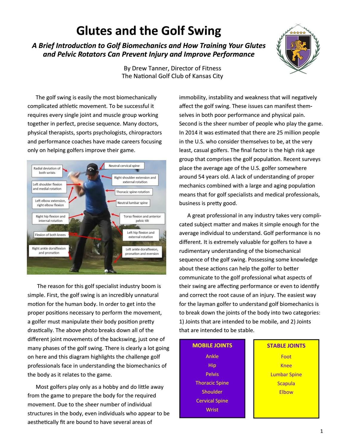 Hip and Pelvic Power by Drew Tanner, The National Golf Club