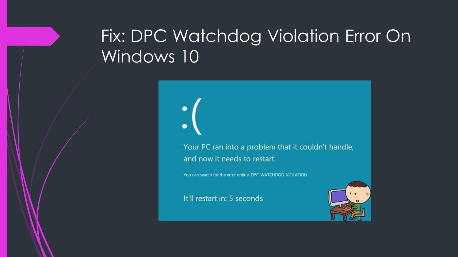 stop code dpc watchdog violation