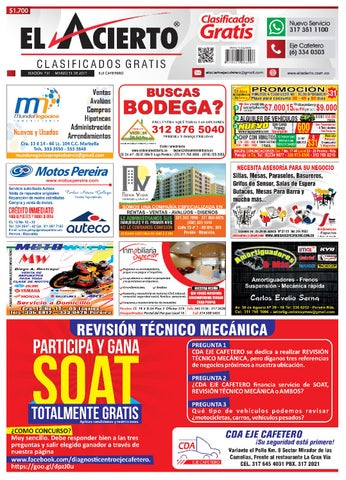 INDICE CLASIFICADOS PEREIRA MANIZALES CARTAGO ARMENIA 9c309e33e4f