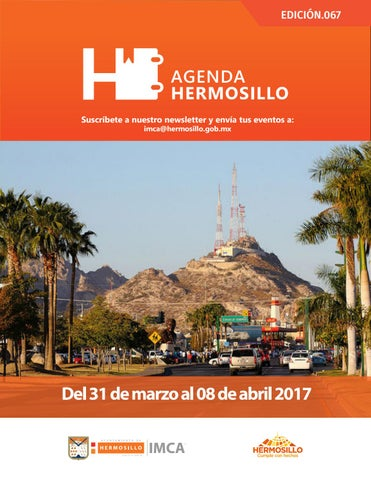 "Cover of ""Agenda Hermosillo 31 marzo 2017"""