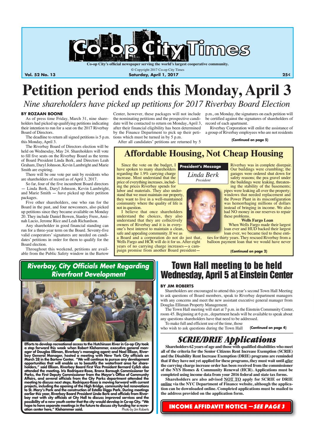 Co-op City Times 04/01/17 by Co-op City Times - issuu