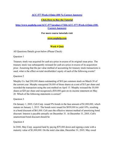 Acc 577 week 4 quiz (100 % correct answers) by vbgtq - issuu