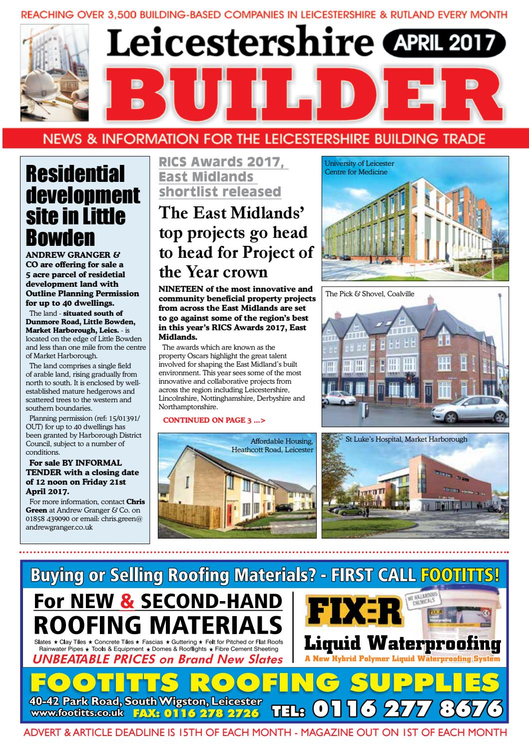 April 2017 Leicestershire Builder Online By Michael