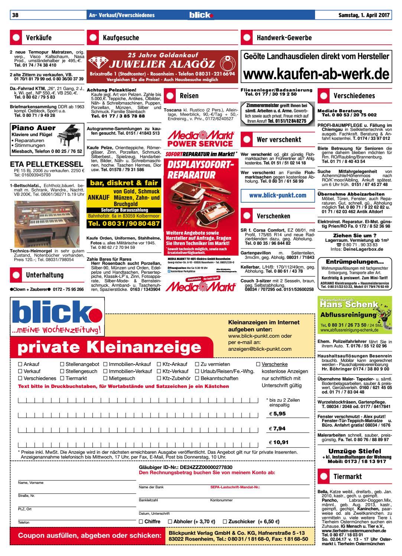 Rosenheimer Blick Ausgabe 13 2017 By Blickpunkt Verlag Issuu