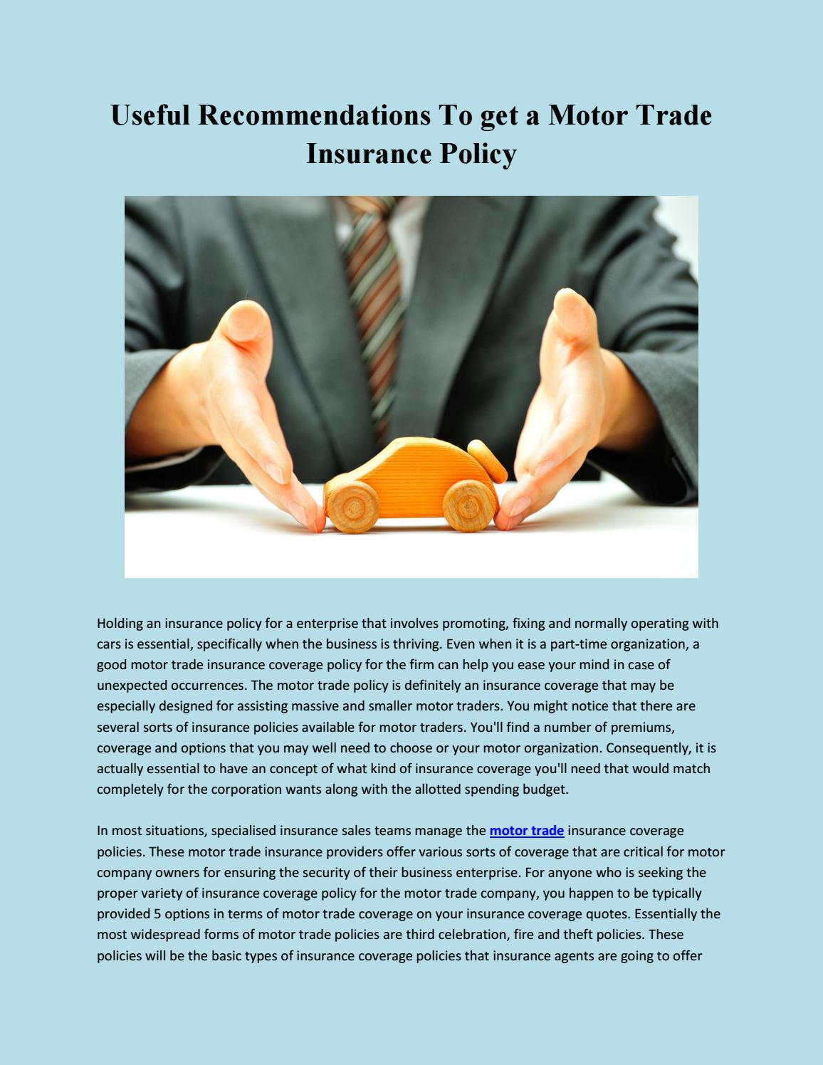 Traders Insurance Policy >> Cheap Traders Insurance By Motor Traders Insurance Issuu