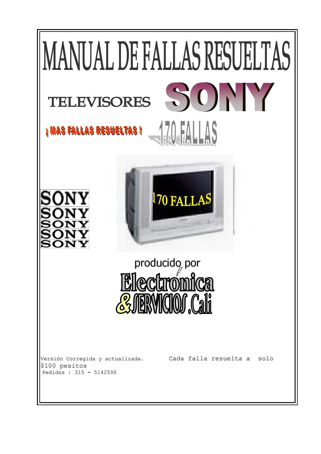 Manual de fallas tv Sony. by Hector Viloria Soto - issuu