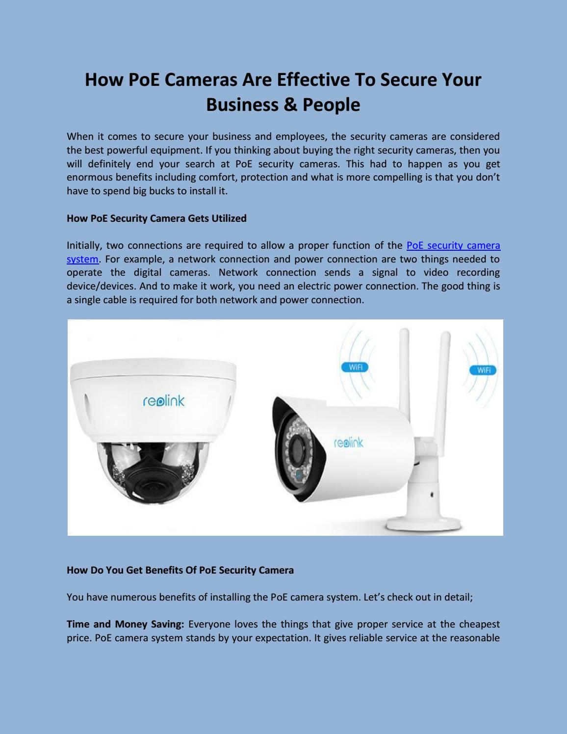 How Poe Cameras Are Effective To Secure Your Business People By Power Over Ethernet Wiring Diagram Do I My Camera Reolink Issuu