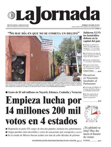 """75b50acb3a7 DOMINGO 2 DE ABRIL DE 2017 CIUDAD DE MÉXICO • AÑO 33 • NÚMERO 11737 •  www.jornada.unam.mx. """""""