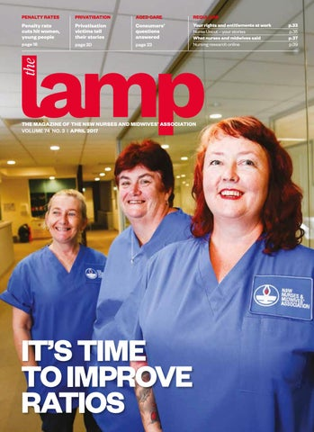 Lamp april 2017 by nsw nurses and midwives association issuu page 1 fandeluxe Gallery