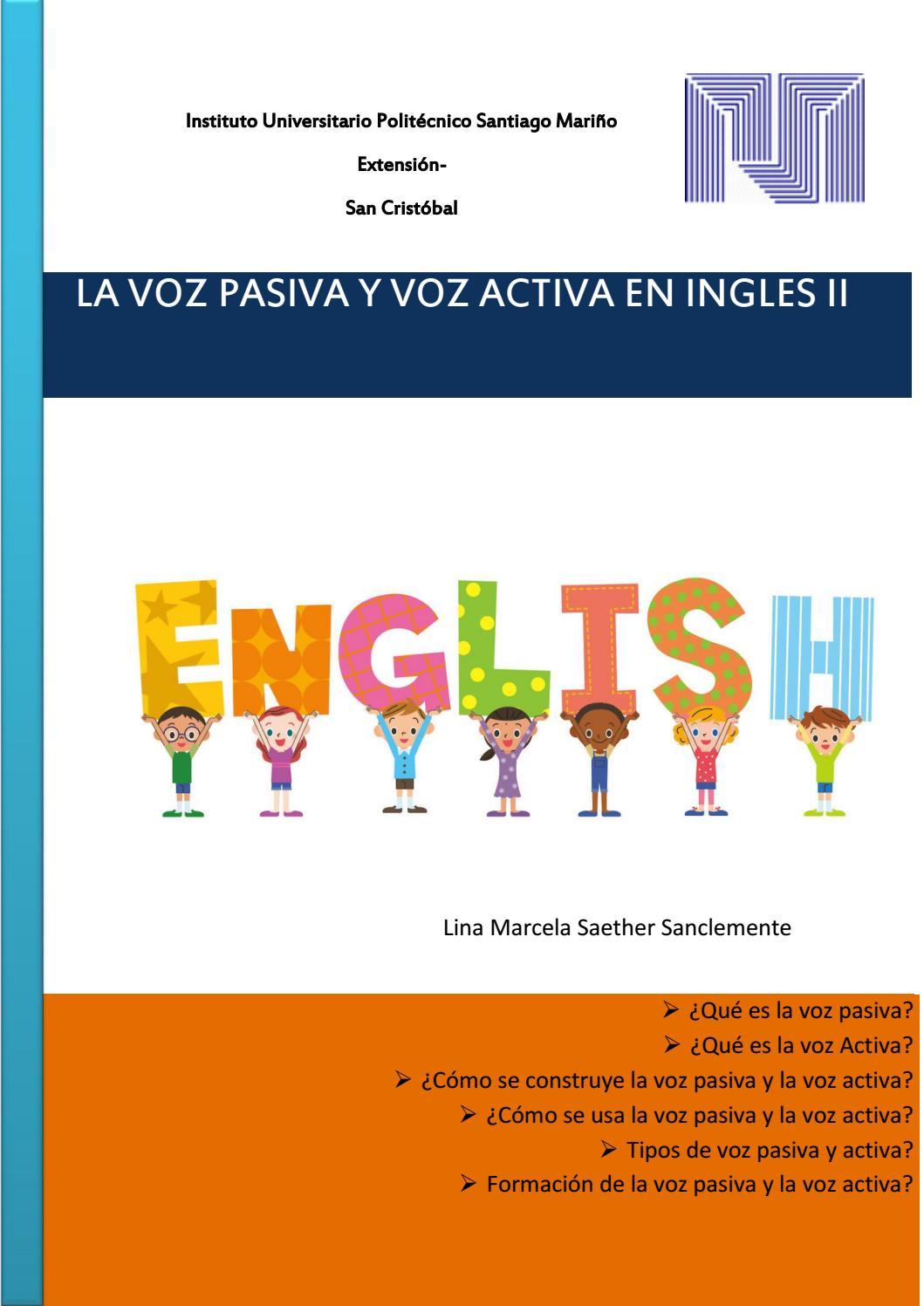 Revista De La Voz Pasiva Y Activa En Ingles By Elen Issuu