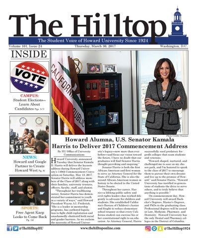 The Hilltop, March 30, 2017, Volume 101, Issue 24 by Howard