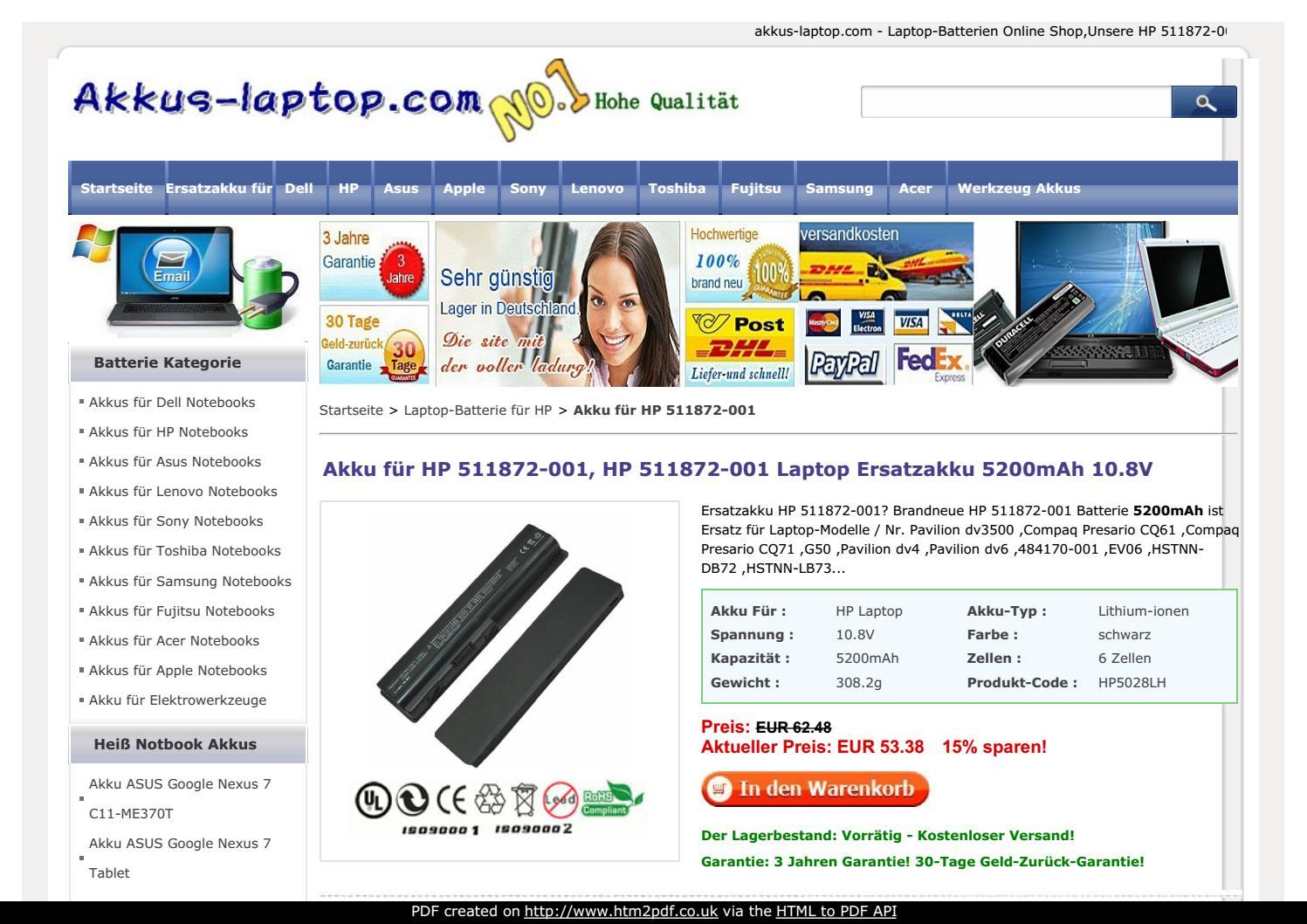Notebook Laptop Akku Batterie f/ür HP Compaq Presario CQ40 CQ41 CQ45 CQ50 CQ60 CQ70 G50 G60 ersetzt HSTNN-CB72 484170-001 484171-001 485041-001 485041-003 498482-001 HSTNN-UB72 KS524AA Battery