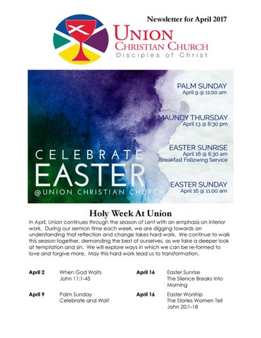 63c458d33b April 2017 by Union Christian Church