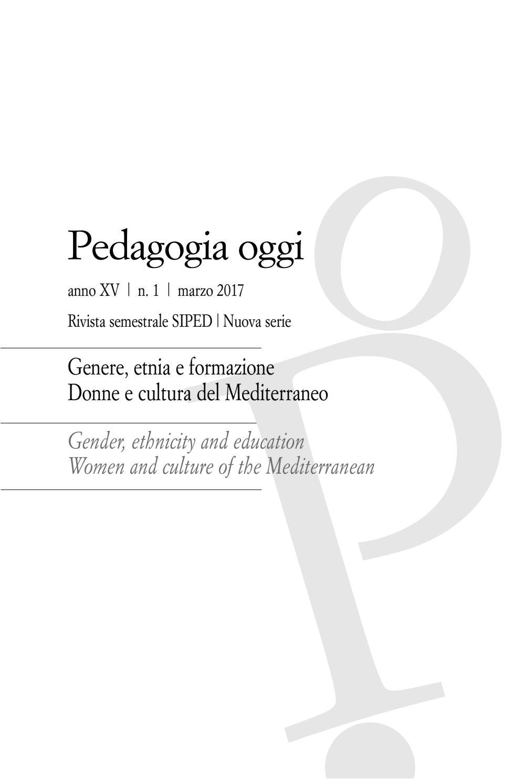 Pedagogia oggi, anno XV, n. 1, marzo 2017 by Pensa
