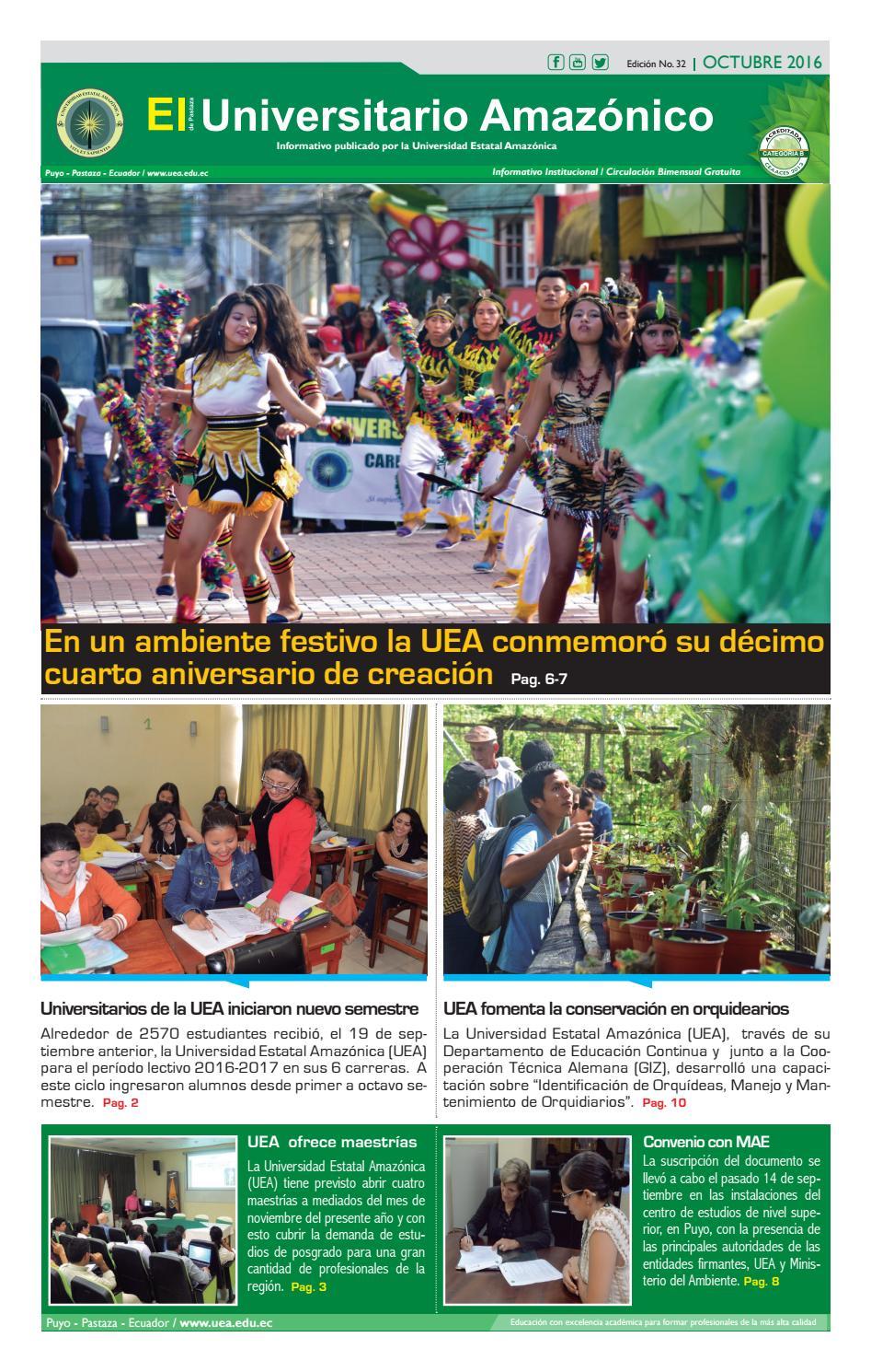 Universitario Amazónico octubre 2016 by UNIVERSIDAD ESTATAL ...