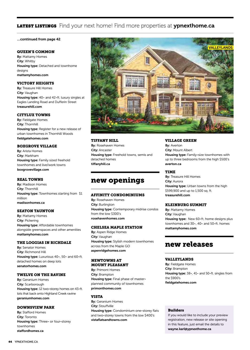 GTA New Home Guide - Apr 1, 2017 by NextHome - issuu