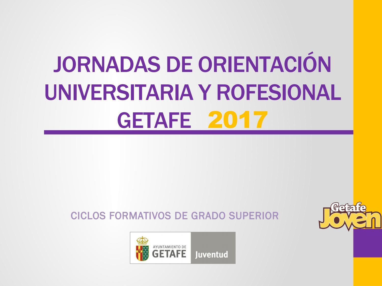 Ciclos Formativos Grado Superior 2017 By Getafe Joven Issuu