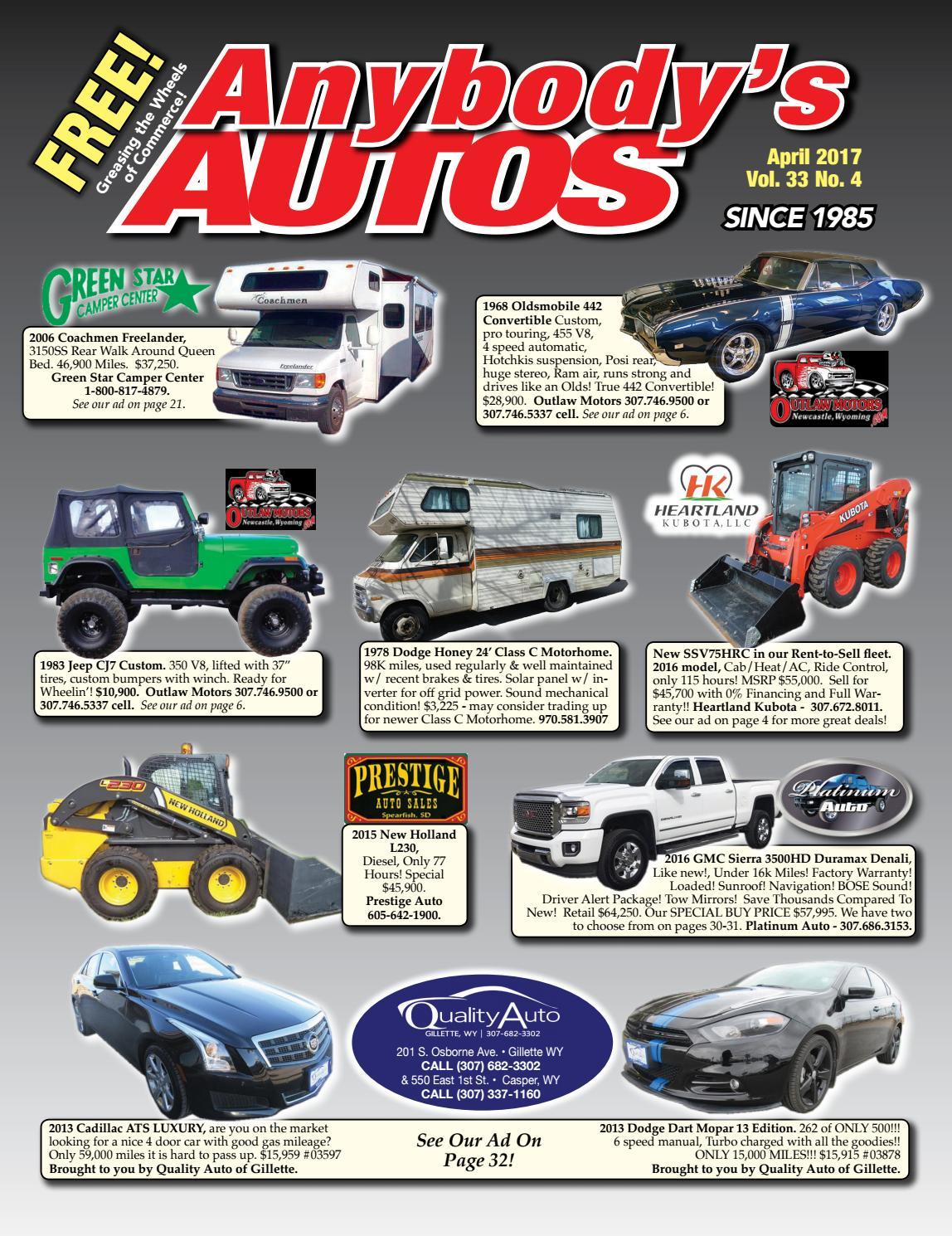 April 2017 by Anybodys Autos - issuu