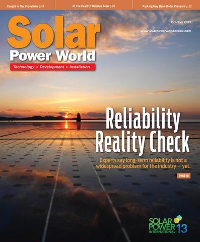 Solar Power World - OCTOBER 2013 by WTWH Media LLC - issuu