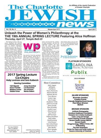 6dd07228796f 04 apr 2017 web by The Charlotte Jewish News - issuu