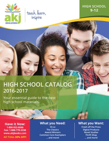 High school catalog 2016 2017 by akj education issuu page 1 fandeluxe Choice Image