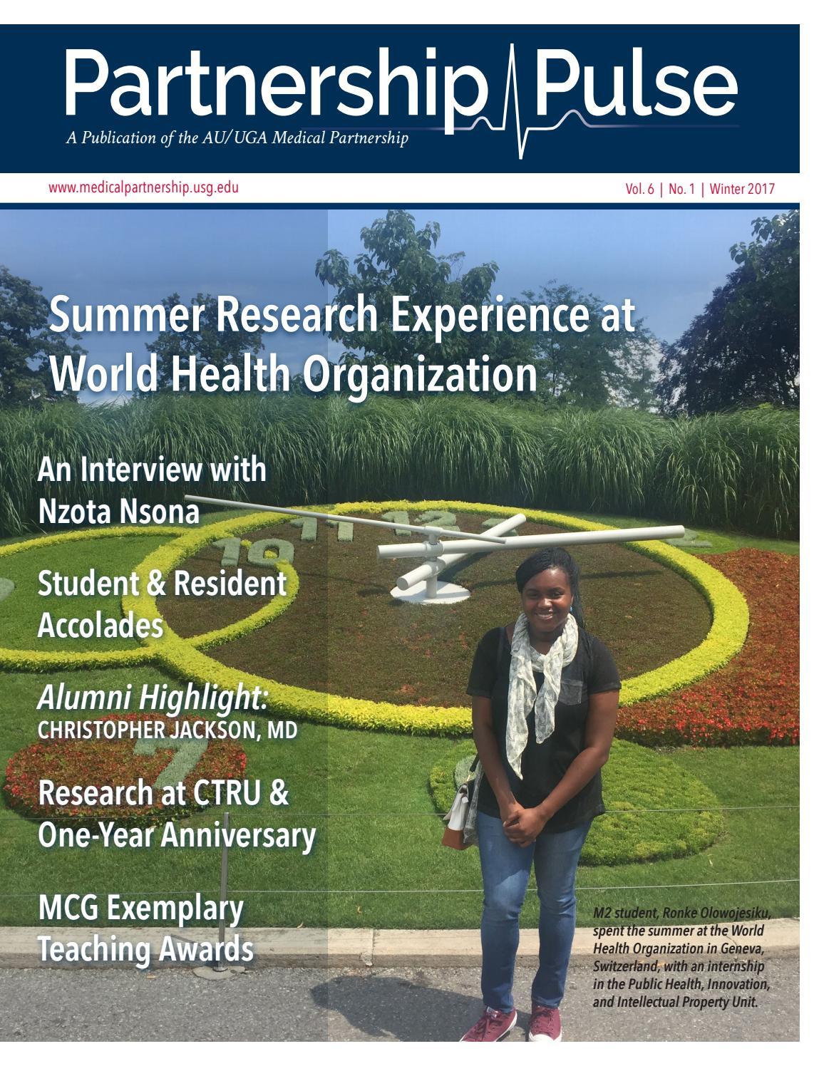 Partnership Pulse Winter 2016 by AU UGA Medical ...