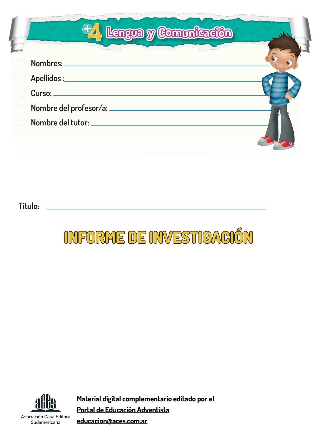 Plantilla modelo - Informe de investigación by Editorial ACES - issuu