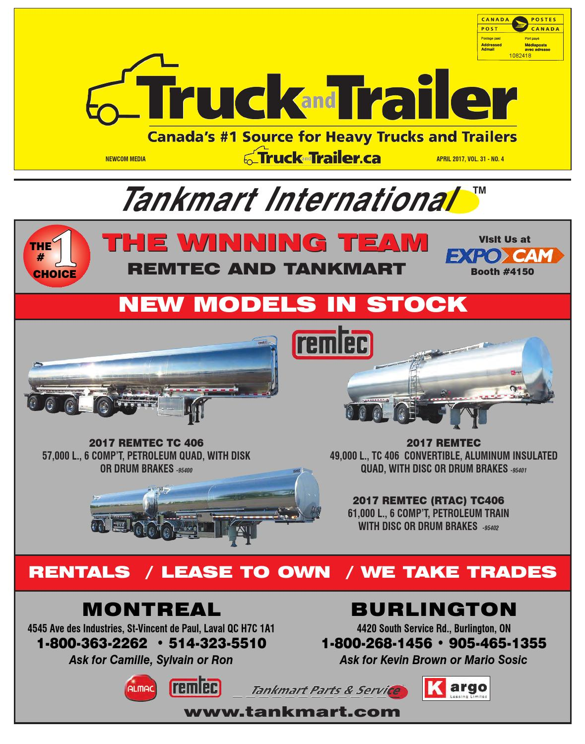 Truck And Trailer April 2017 By Annex Newcom Lp Issuu Michelin X Multi Z 295 80r225 Ban Truk
