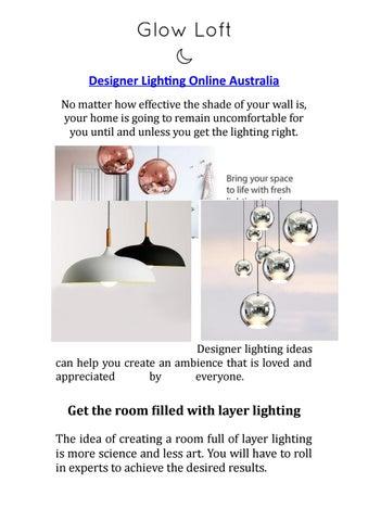 Designer Lighting Online Australia By Glow Loft Issuu