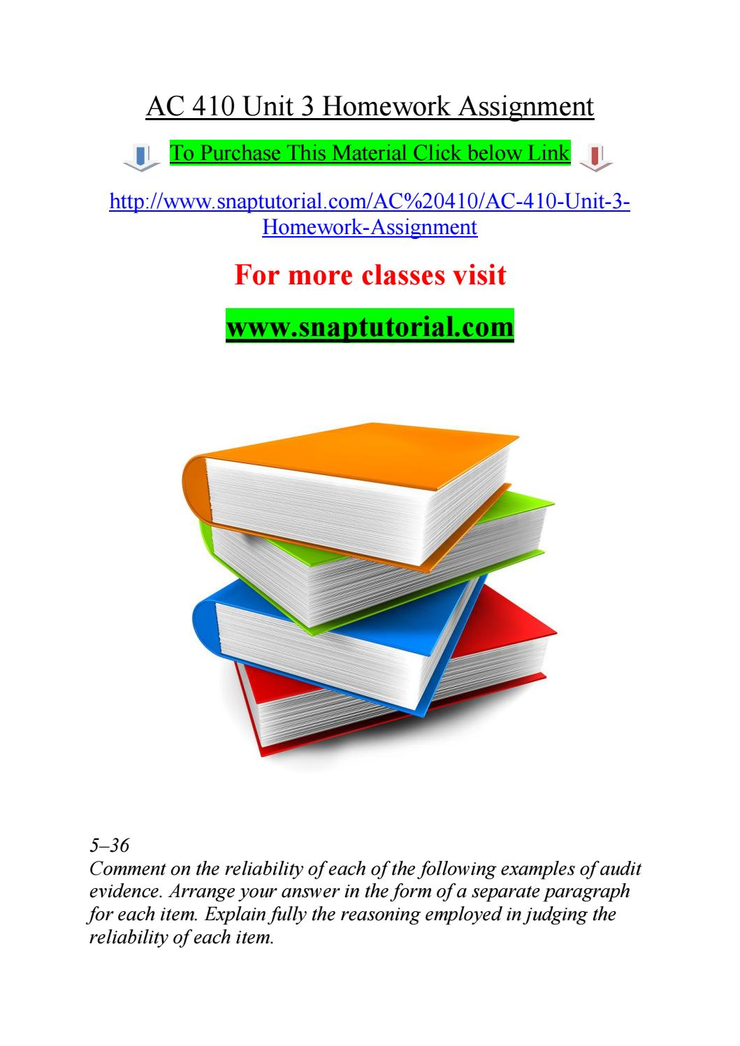 ac 410 unit 3 homework assignment by jabbaree167 issuu